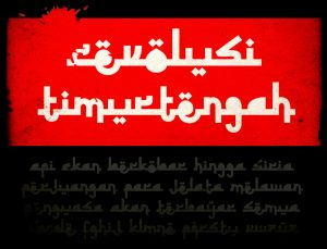 Download Kumpulan Font Mirip Huruf Arab Keren Untuk Picsay, Photoshop & Corel Draw