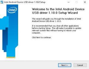 cara install asus intell android driver setup 3