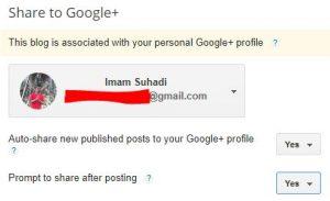 cara membuat auto share artikel ke google plus di blogspot 1