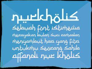 Download Kumpulan Font Mirip Huruf Arab Keren Untuk Picsay, Photoshop & Corel Draw 3