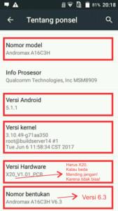 Cara Unlock Dual Gsm A a16c3h versi dewi v6.3