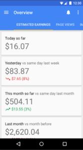 cara melihat statistik penghasilan google adsense lewat hp android