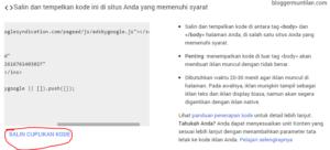 cara memasang iklan matched content adsense di blog wordpress self hosted 8