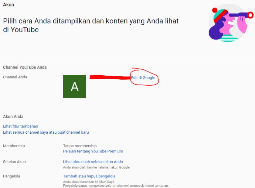 Cara Mengganti Nama Channel Youtube 1