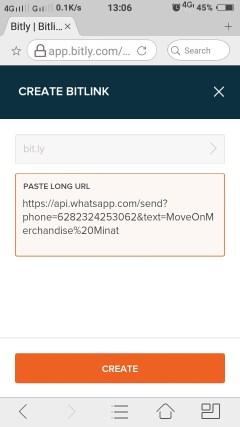 Cara Membuat Custom Short Url Whatsapp Di Bitly Untuk Link Bio Instagram 06
