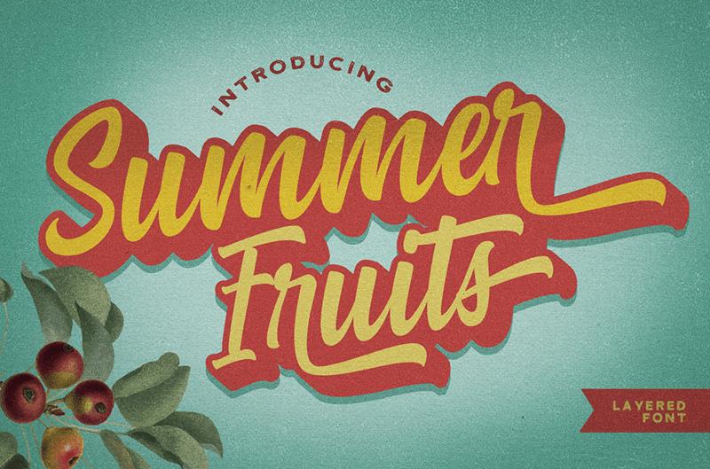 Kumpulan Font Latin Gratis Terbaik Terbaru 2020 Part 1 summer fruits