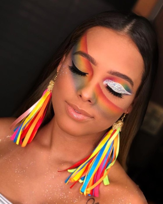 Rainbow Glitter Eyeshadow Perfect For Pride Month