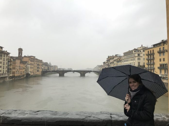 Myself on the Ponte Vecchio Bridge in Florence, Italy
