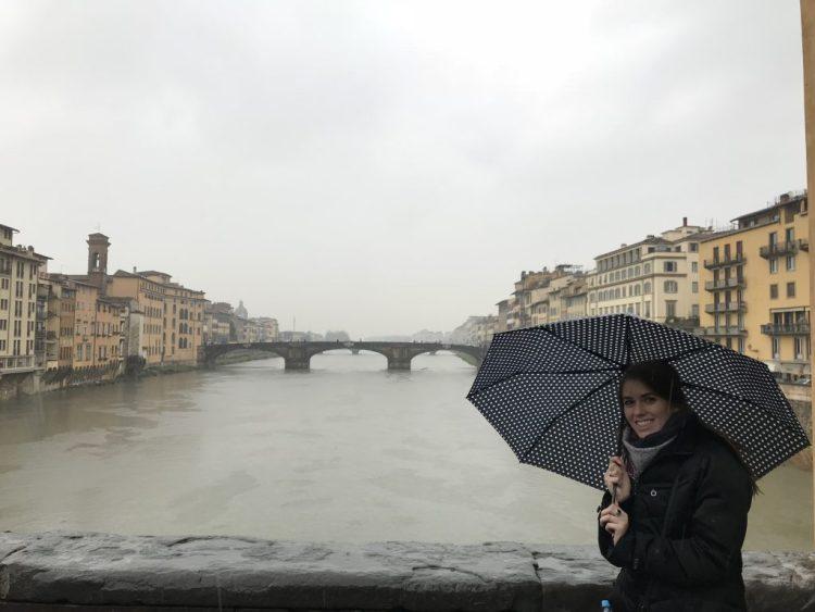 Myself on the Ponte Vecchio Bridge in Florence, Italy