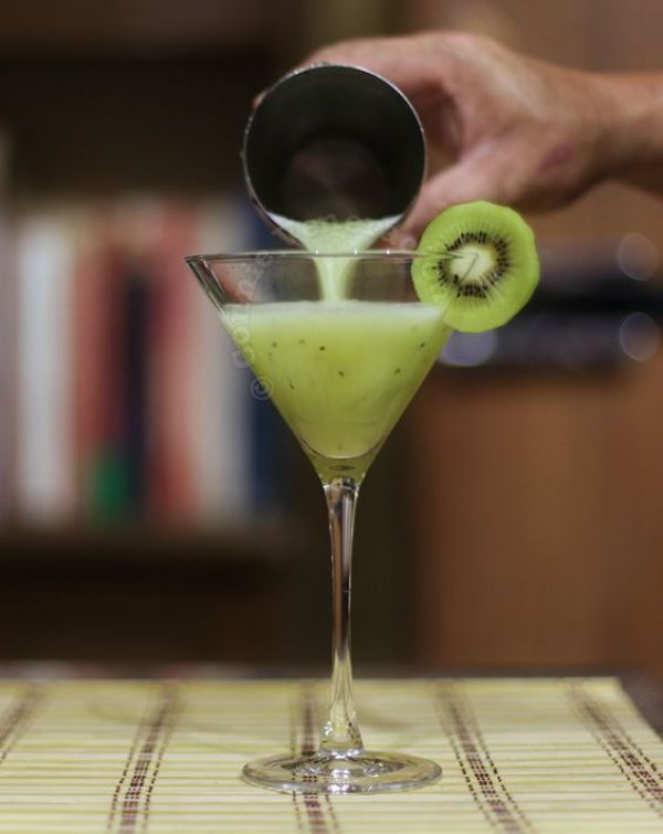 Kiwi Martinis are good sweet cocktails for the summer due to their rich, kiwi flavor.