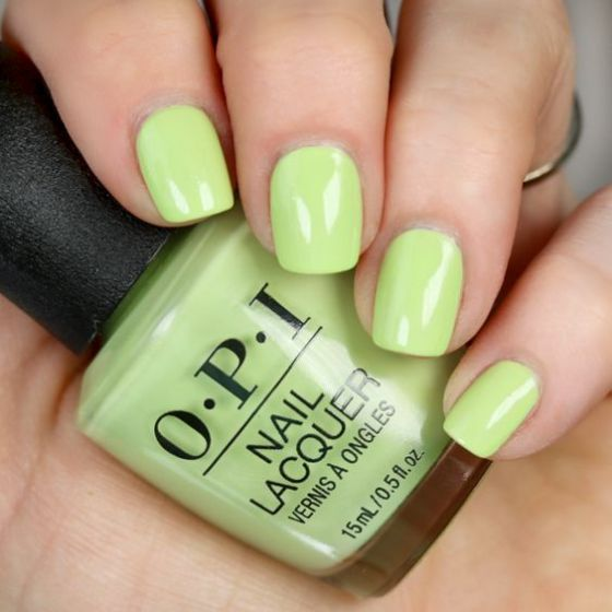 How Does Your Zen Garden Grow from OPI's Tokyo Collection is a pastel green that is not too bold, but it is bright enough to add a small pop of green in your closet.