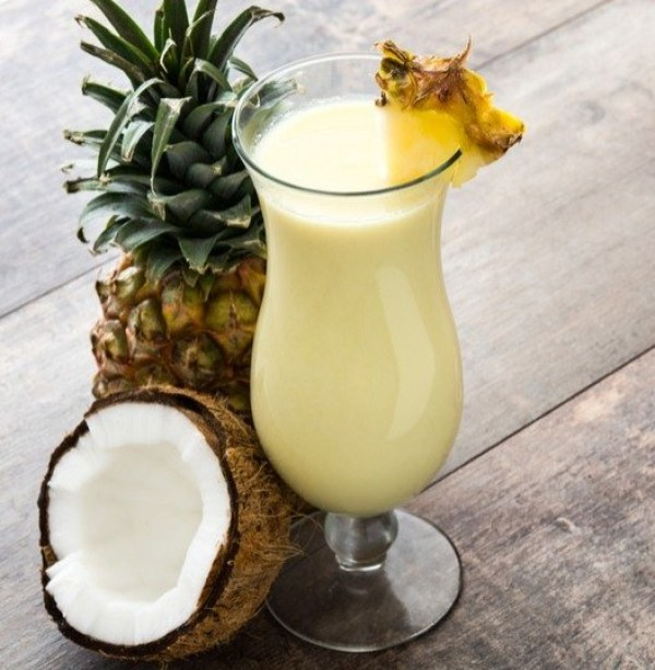 Piña coladas are perfect summer cocktails for the summer.
