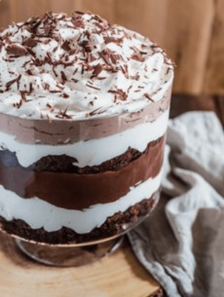 Holiday Brownie Trifle