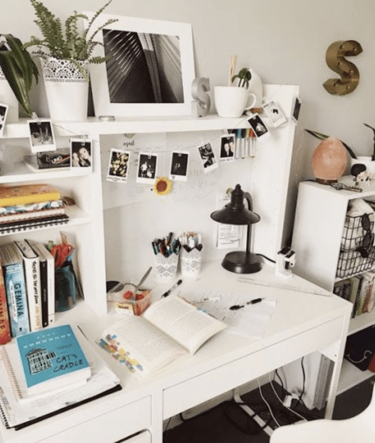 Desk workspace example