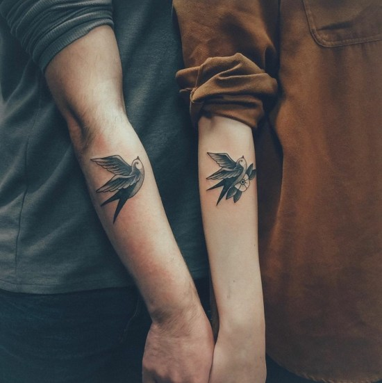 20 Cute AF Small Couple Tattoos