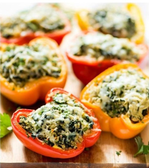 The spinach artichoke stuffed peppers are a good appetizer to have for casual settings like college parties and family gatherings.