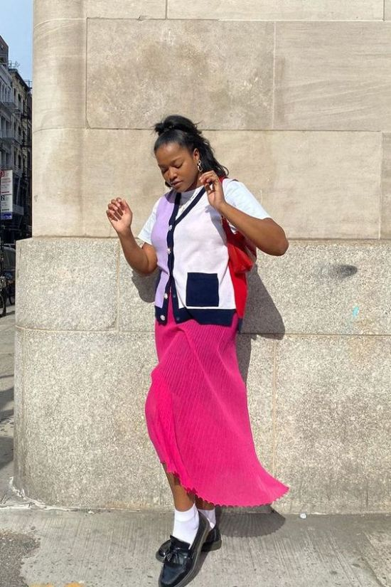 10 Ways To Wear A Sweater Vest With A Skirt