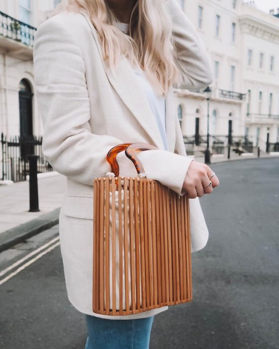 wooden bag cute style