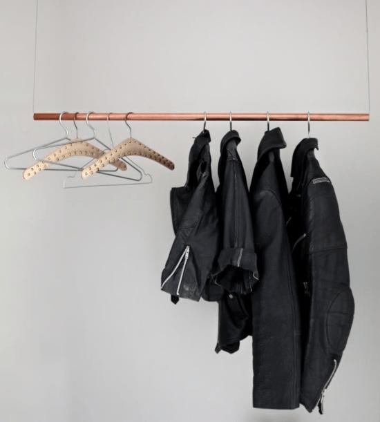 DIY Floating Clothing Rack