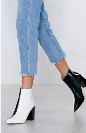 12 black booties you can wear in the snow