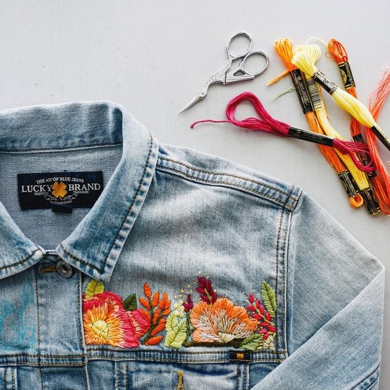 diy your clothes embroidering ideas