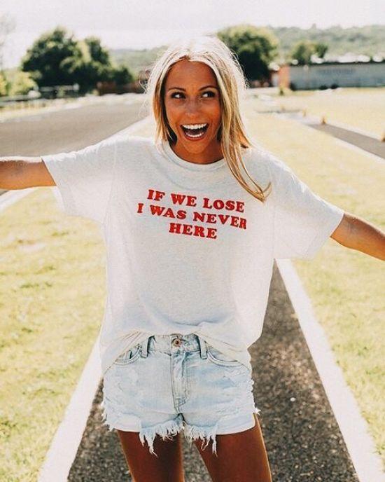 a witty tee shirt