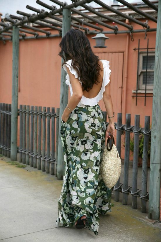 10 Ways To Wear A Maxi Skirt Without Looks Frumpy