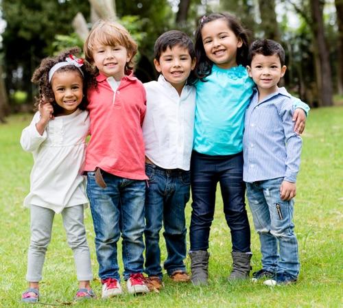 Children standing together
