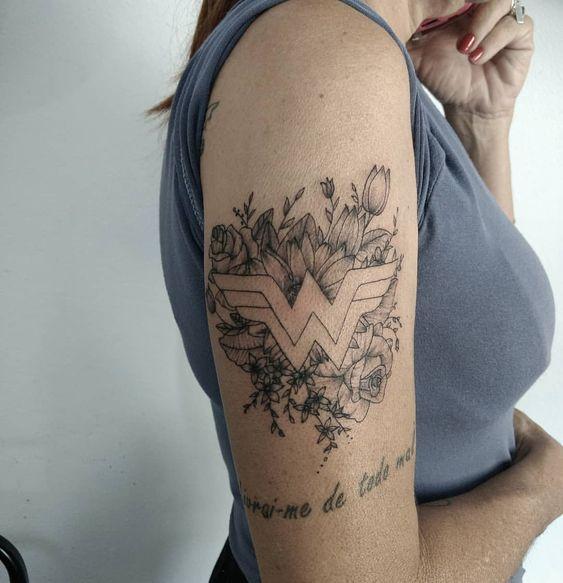 wonder woman tattoo idea
