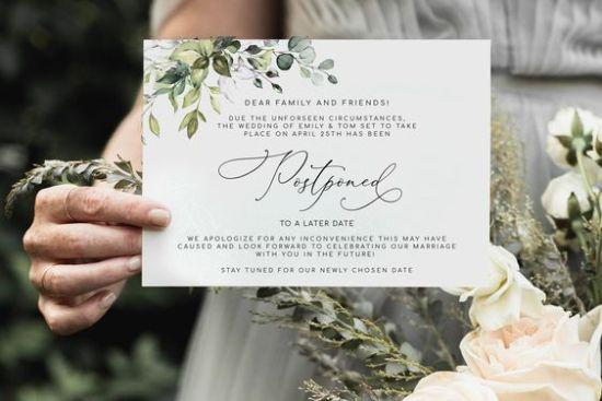 Wedding Postponed Because Of Coronavirus? Now What?
