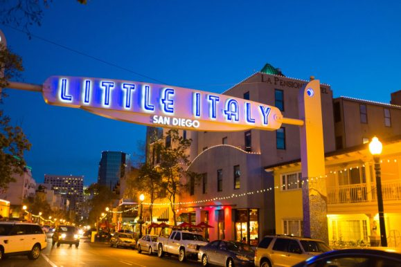 Eating in Little Italy is things to do around San Diego University!