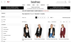 Boohoo Screenshot Website