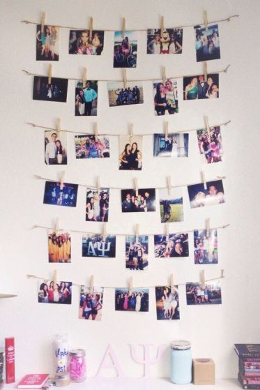 Photographs are an amazing Uni room decoration idea!