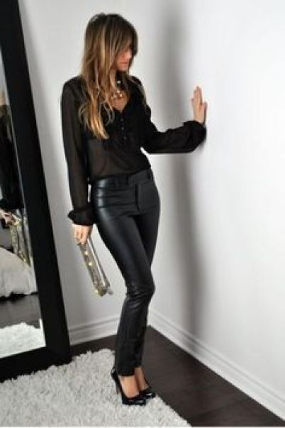 These are the best ways to wear leather leggings!