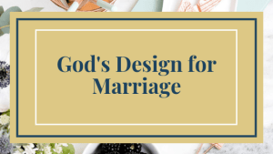 gods design for marriage