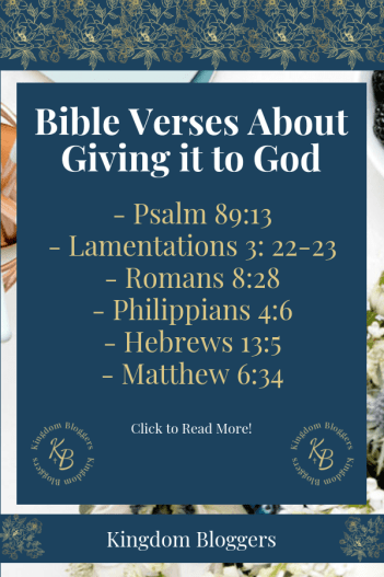 Bible Verses About Giving it to God