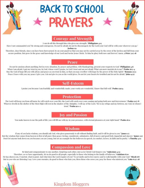 13 Powerful Back to School Verses to Pray Over Your Kids