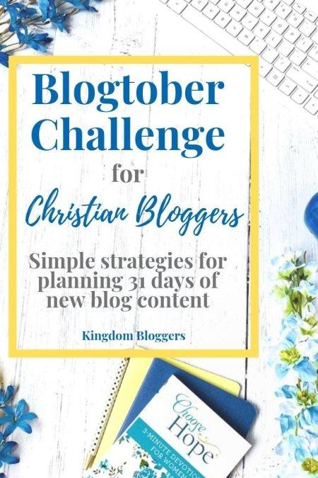 Blogtober Challenge for Christian Bloggers