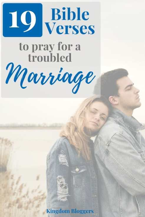 bible verses for a troubled marriage