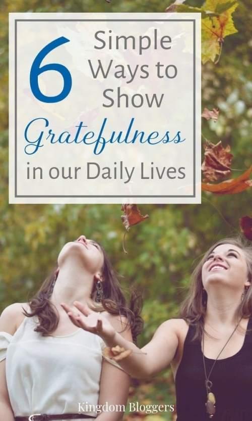 ways to show gratefulness