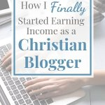 earning income as a christian blogger
