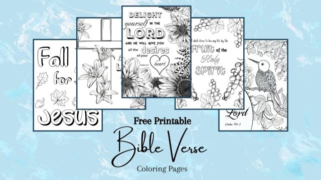 Free Printable Bible Verse Coloring Pages - Kingdom Bloggers