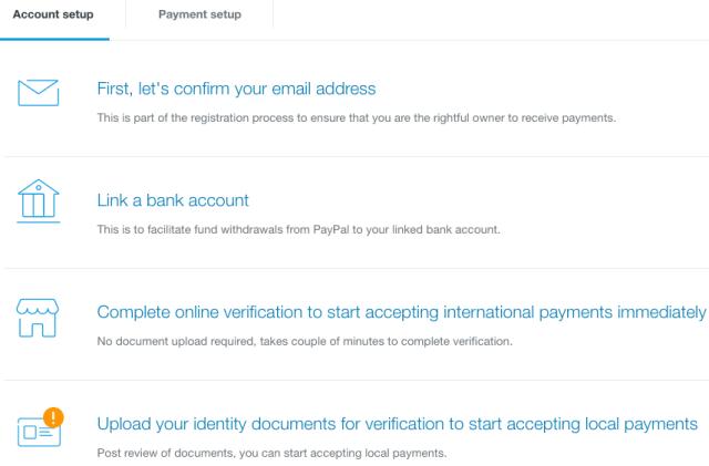 vérification du compte paypal