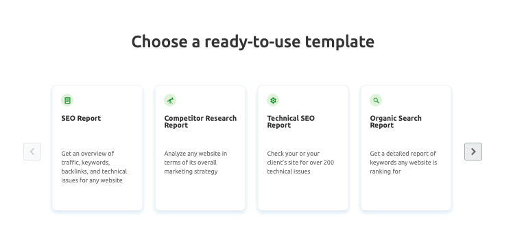 semrush reports templates