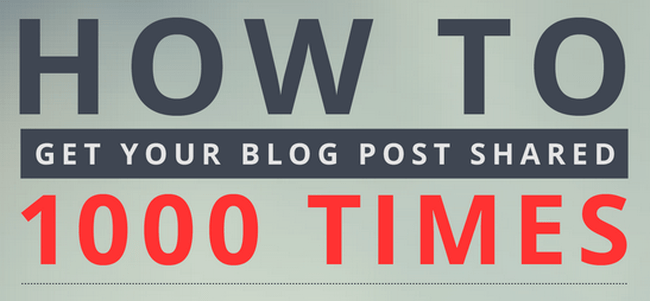 How to share your blog posts