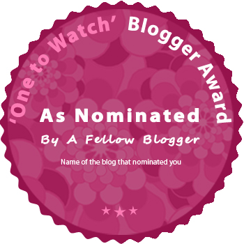 One to watch bloggers award