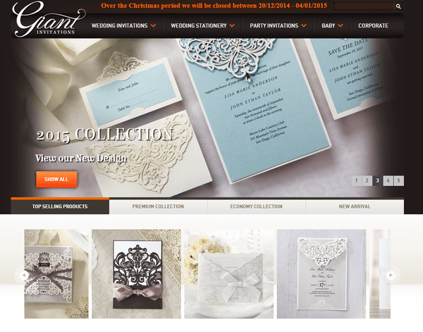 Blogging assignment: Review our New Wedding Invitation Collection (Worldwide bloggers)