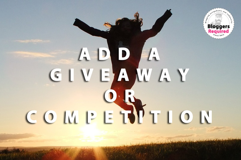 Are you a blogger hosting a giveaway or competition? We'd like to promote it!