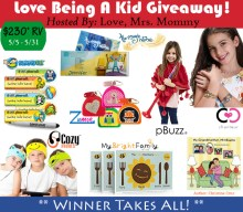 Blogger @easterchic US Giveaway: Love Being a Kid Giveaway – Closes 05/31/2017