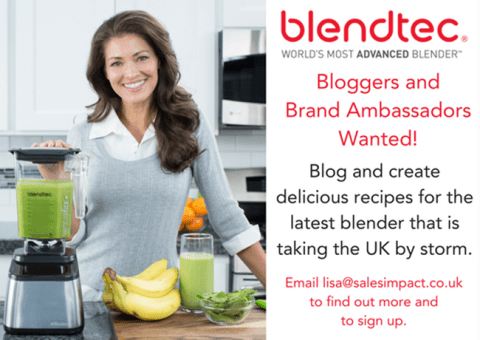 Blogging assignment: UK Bloggers and Brand Ambassadors Wanted For Blendtec UK